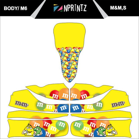 M6 M&M.S FULL KART STICKER KIT