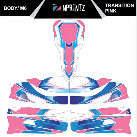 M6 TRANSITION PINK FULL KART STICKER KIT