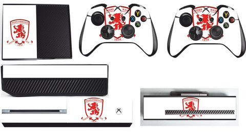 MIDDLESBROUGH XBOX ONE*TEXTURED VINYL ! *PROTECTIVE SKIN DECAL WRAP