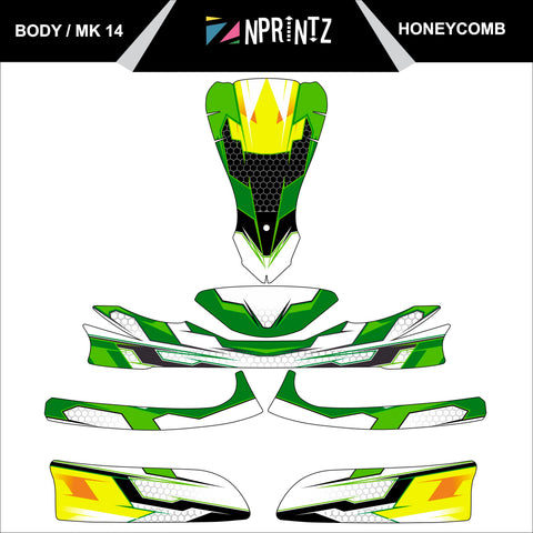 MK14 HONEYCOMB FULL KART STICKER KIT