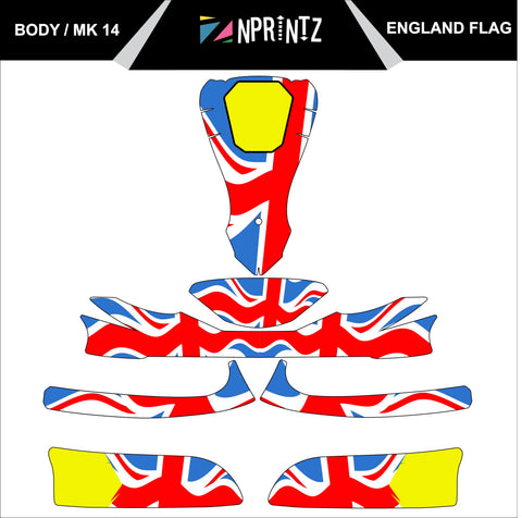 MK14 ENGLAND FULL KART STICKER KIT