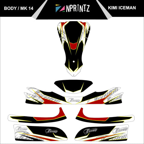 MK14 ICEMAN FULL KART STICKER KIT