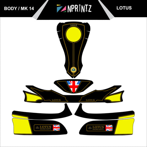 MK14 LOTUS FULL KART STICKER KIT