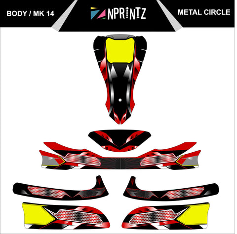 MK14 METAL CIRCLE FULL KART STICKER KIT