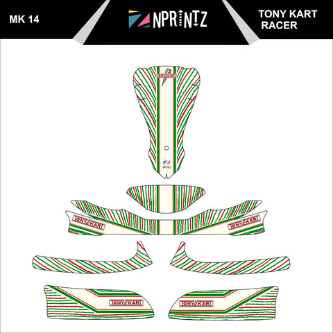 MK14 TONTKART RACER STYLE FULL KART STICKER KIT