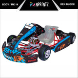 MK14 SHADOW FADE BLUE FULL KART STICKER KIT