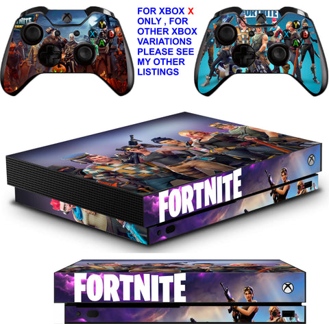 FORTNITE XBOX ONE X *TEXTURED VINYL ! * PROTECTIVE SKINS DECALS STICKERS