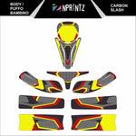 PUFFO BAMBINO CARBON SLASH FULL KART STICKER KIT