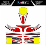 PUFFO BAMBINO WRIGHT KART FULL KART STICKER KIT