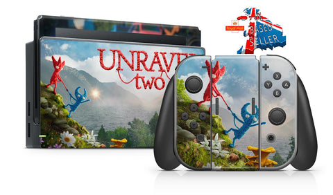 UNRAVEL TWO NINTENDO SWITCH **TEXTURED VINYL ! *  SKINS DECALS WRAP