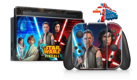 STAR WARS PINBALL NINTENDO SWITCH **TEXTURED VINYL ! *  SKINS DECALS WRAP