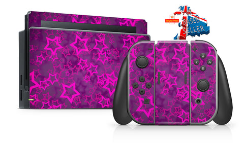 STARS NINTENDO SWITCH **TEXTURED VINYL ! *  SKINS DECALS WRAP