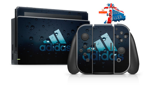 ADIDAS BUBBLES NINTENDO SWITCH **TEXTURED VINYL ! *  SKINS DECALS WRAP