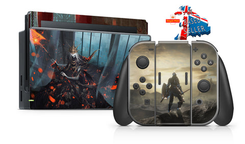 DARK SOULS NINTENDO SWITCH **TEXTURED VINYL ! *  SKINS DECALS WRAP