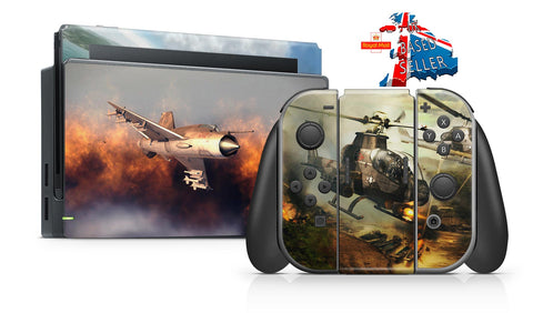 AIR CONFLICTS COLLECTION NINTENDO SWITCH **TEXTURED VINYL ! *  SKINS DECALS WRAP