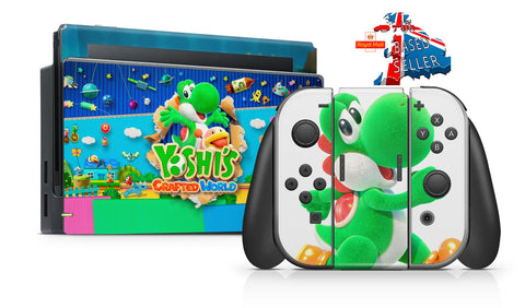 YOSHI'S CRAFTED WORLD NINTENDO SWITCH **TEXTURED VINYL ! *  SKINS DECALS WRAP
