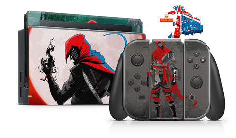 ARAGAMI SHADOW EDITION NINTENDO SWITCH **TEXTURED VINYL ! *  SKINS DECALS WRAP