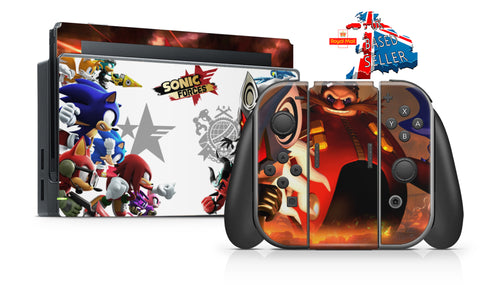 SONIC FORCES NINTENDO SWITCH **TEXTURED VINYL ! *  SKINS DECALS WRAP