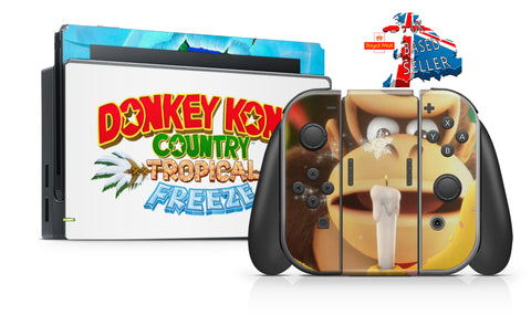 DONKEY KONG COUNTRY TROPICAL FREEZE NINTENDO SWITCH **TEXTURED VINYL ! *  SKINS DECALS WRAP