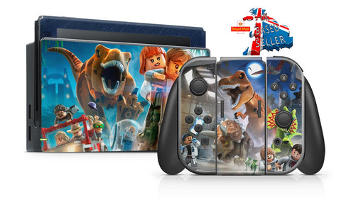 LEGO JURASSIC WORLD NINTENDO SWITCH **TEXTURED VINYL ! *  SKINS DECALS WRAP