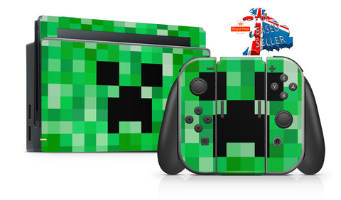 PIXELS NINTENDO SWITCH **TEXTURED VINYL ! *  SKINS DECALS WRAP