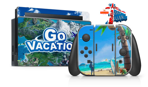 GO VACATION NINTENDO SWITCH **TEXTURED VINYL ! *  SKINS DECALS WRAP