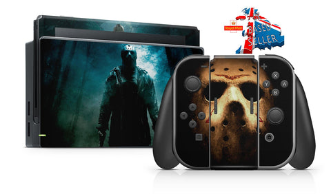 FRIDAY 13TH NINTENDO SWITCH **TEXTURED VINYL ! *  SKINS DECALS WRAP