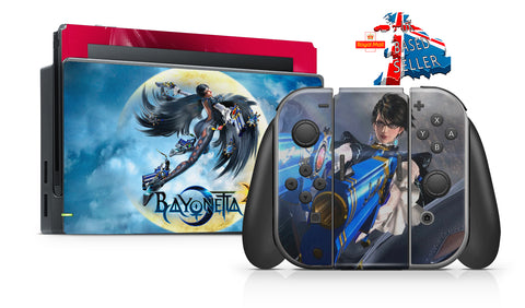 BAYONETTA NINTENDO SWITCH **TEXTURED VINYL ! *  SKINS DECALS WRAP