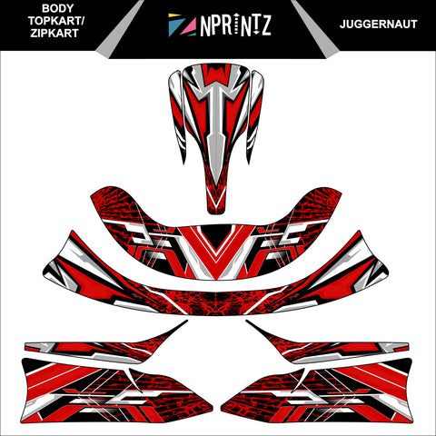 TOPKART/ZIPKART BAMBINO JUGGERNAUT FULL STICKER KIT