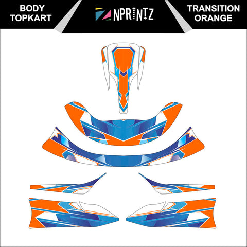 TOPKART/ZIPKART BAMBINO TRANSITION ORANGE FULL STICKER KIT