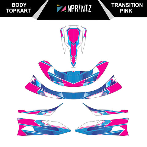 TOPKART/ZIPKART BAMBINO TRANSITION PINK FULL STICKER KIT
