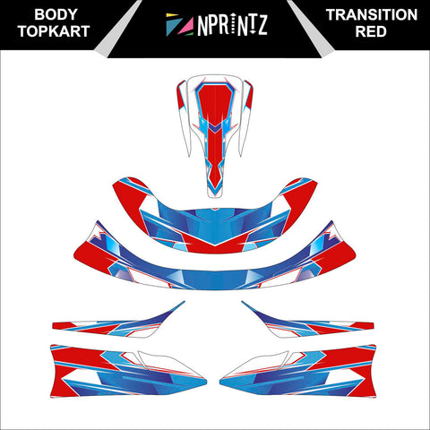 TOPKART/ZIPKART BAMBINO TRANSITION RED FULL STICKER KIT