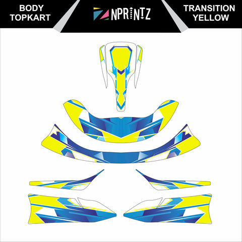 TOPKART/ZIPKART BAMBINO TRANSITION YELLOW FULL STICKER KIT