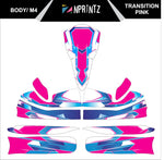M4 TRANSITION PINK FULL KART STICKER KIT