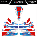 M4 TRANSITION RED FULL KART STICKER KIT