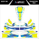 M4 TRANSITION YELLOW FULL KART STICKER KIT