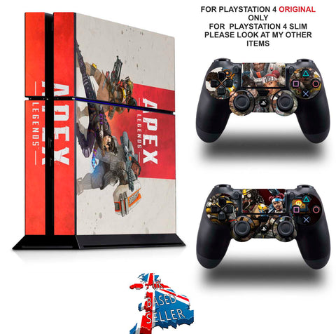 APEX LEGENDS PS4 *TEXTURED VINYL ! * PROTECTIVE SKINS DECAL WRAP STICKERS