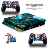JUMP FORCE PS4 SLIM *TEXTURED VINYL ! *PROTECTIVE SKINS DECALS WRAP