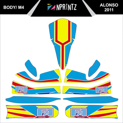 M4 ALONSO 2011 FULL KART STICKER KIT