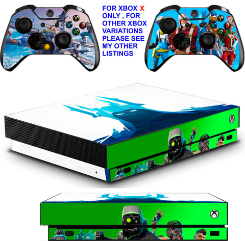FORTNITE SEASON 7 XBOX ONE X *TEXTURED VINYL ! * PROTECTIVE SKINS DECALS STICKERS