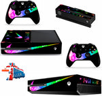NIKE TICK BRIGHT XBOX ONE *TEXTURED VINYL ! *PROTECTIVE VINYL SKIN DECAL WRAP