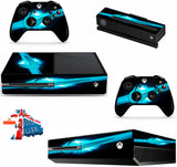 NIKE TICK BLUE XBOX ONE *TEXTURED VINYL ! *PROTECTIVE VINYL SKIN DECAL WRAP