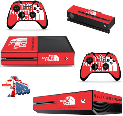 NORTH FACE XBOX ONE *TEXTURED VINYL ! *PROTECTIVE VINYL SKIN DECAL WRAP