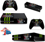 ADIDAS GREEN STRIPE XBOX ONE *TEXTURED VINYL ! *PROTECTIVE VINYL SKIN DECAL WRAP