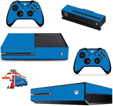 BLUE CARBON XBOX ONE *TEXTURED VINYL ! *PROTECTIVE VINYL SKIN DECAL WRAP