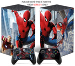 SPIDERMAN Xbox SERIES X *TEXTURED VINYL ! * SKINS DECALS STICKERS WRAP