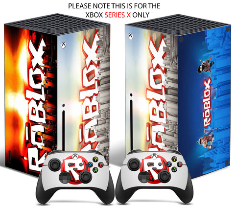 ROBLOX V2 Xbox SERIES X *TEXTURED VINYL ! * SKINS DECALS STICKERS WRAP
