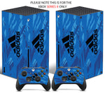 ADIDAS BLUE LINES Xbox SERIES X *TEXTURED VINYL ! * SKINS DECALS STICKERS WRAP