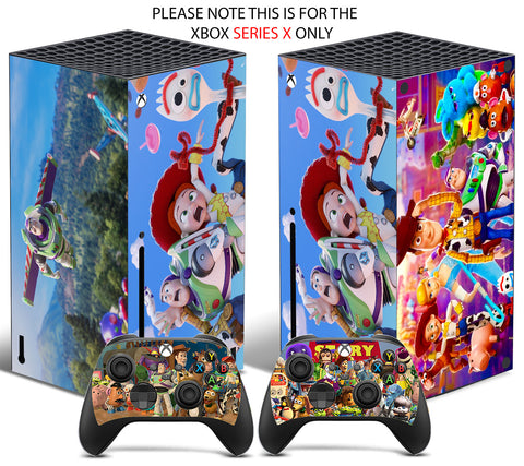 TOY STORY Xbox SERIES X *TEXTURED VINYL ! * SKINS DECALS STICKERS WRAP