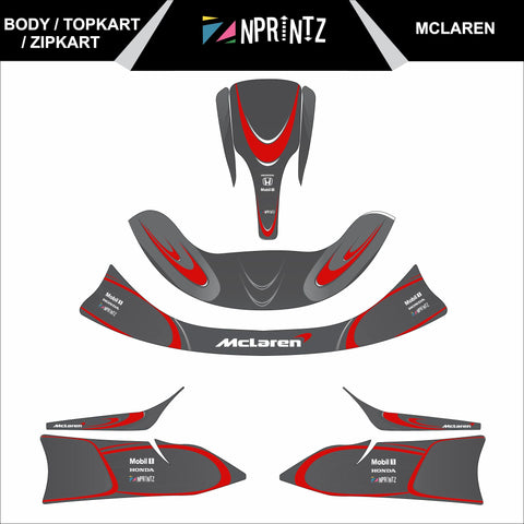 TOPKART/ZIPKART BAMBINO MCLAREN FULL STICKER KIT